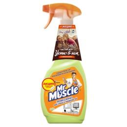 """Мистер Мускул чистящее и моющее средство для стекол и других поверхностей со спиртом """"Лайм"""" триггер"""