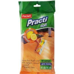 Paclan салфетки влажные для пола  50х36 см, 10 шт