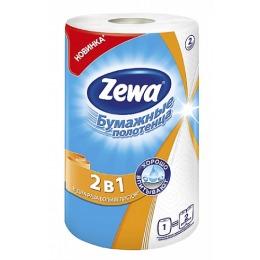 Zewa полотенца кухонные двухслойные 2 в 1, 1 шт