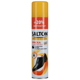 Salton краска для гладкой кожи, черная, 300 мл