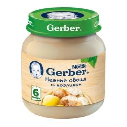 """Gerber пюре """"Овощное с кроликом"""" с 6 месяцев"""