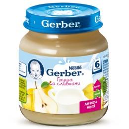 """Gerber пюре """"Груша со сливками"""" с 6 месяцев"""