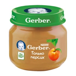 """Gerber пюре """"Персик"""", 80 г"""