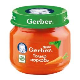 """Gerber пюре """"Морковь"""", 80 г"""
