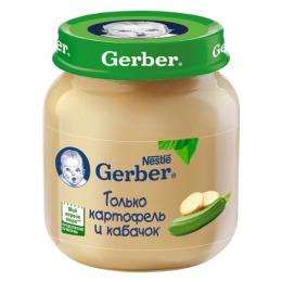 """Gerber пюре """"Картофель и кабачок"""" с 5 месяцев"""