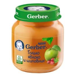 """Gerber пюре """"Яблоко с шиповником"""" с 5 месяцев"""