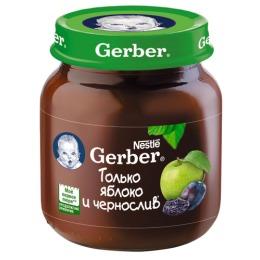 """Gerber пюре """"Яблоко и чернослив"""" с 5 месяцев, 130 г"""