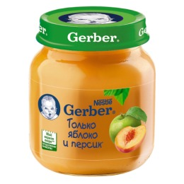 """Gerber пюре """"Яблоко и персик"""" с 5 месяцев"""
