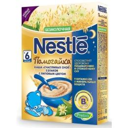 """Nestle каша безмолочная """"Помогайка. 5 злаков с липовым цветом"""" с 6 месяцев"""