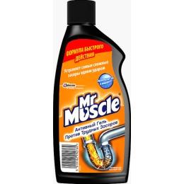 """Мистер Мускул чистящее и моющее средство """"Гель для сливных тpуб"""", 500 мл"""
