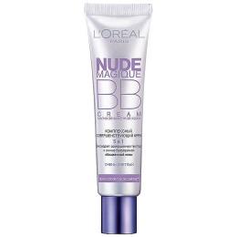 """L'Oreal крем тональный """"Nude Magique"""" для лица, 5 в 1"""