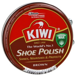 Kiwi крем для обуви в банке, тон коричневый, 50 мл