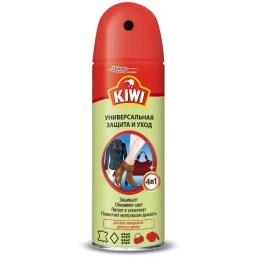 """Kiwi средство по уходу за изделиями из кожи, замши и текстиля """"Универсальная защита и уход"""" аэрозольное"""