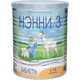 Нэнни 3 молочная смесь на основе натурального козьего молока, с 12 месяцев, 400 г