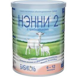 Нэнни 2 молочная смесь с пребиотиком, 6-12 месяцев, 400 г