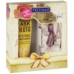 """Freeman набор """"Нежность"""" (маска для лица с экстрактом Золотых ростков пшеницы 150 мл и косметичка в ретро стиле)"""