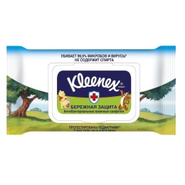 """Kleenex салфетки влажные """"Дисней"""", 40 шт"""