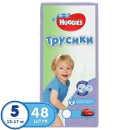 Huggies подгузники-трусики для мальчиков, размер 5, 13-17 кг, 48 шт