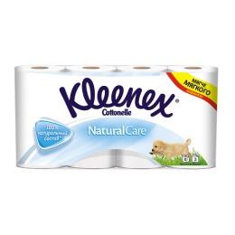 """Kleenex туалетная бумага """"Natural care"""" трехслойная, белая, 8 шт"""