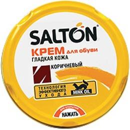Salton крем для обуви в банке, коричневый, 75 мл