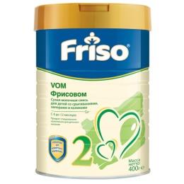 """Friso молочная смесь """"Фрисовом 2"""" 6-12 месяцев, 400 г"""