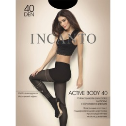 """Incanto колготки """"Active body 40"""" nero"""