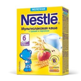 """Nestle каша молочная """"Мультизлаковая"""" с грушей и персиком, 220 г"""