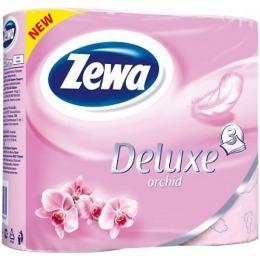 "Zewa туалетная бумага ""Делюкс Орхидея"" 3 слойная, 4 шт"