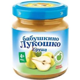 """Бабушкино Лукошко пюре """"Груша"""" с 4 месяцев, 100 г"""