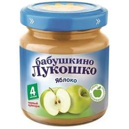 """Бабушкино Лукошко пюре """"Яблоко"""" с 4 месяцев, 100 г"""