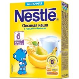 "Nestle каша молочная ""Овсяная"" груша, банан, бифидобактерии, 220 г"
