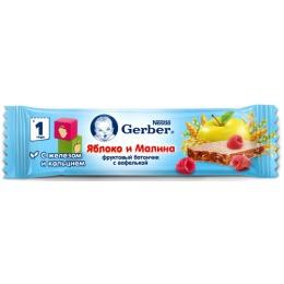 """Gerber батончик фруктовый """"Яблоко и малина"""" с 12 месяцев"""