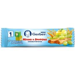 """Gerber батончик злаковый """"Яблоко и виноград"""" с 12 месяцев"""