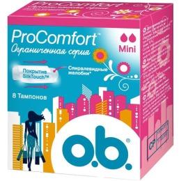 "o.b. тампоны ""ProComfort Mini"", 8 шт"