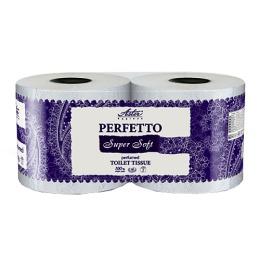 """Aster туалетная бумага """"Perfetto Super"""" 4 слойная, белая, 2 шт"""