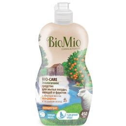 """BioMio средство для мытья посуды """"Bio-Care"""" с эфирным маслом розового дерева, экстрактом хлопка и ионами серебра 450 мл"""