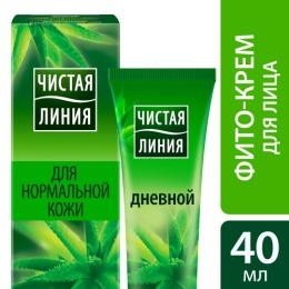 """Чистая Линия крем """"Легкий увлажняющий""""  для нормальной и комбинированной кожи, дневной, 40 мл"""