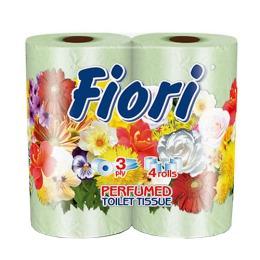 "Aster туалетная бумага ""Fiori"" 3 слойная ароматизированная, тон зеленая, 4 шт"