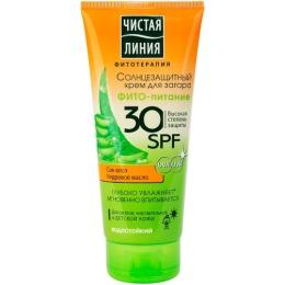 """Чистая Линия крем солнцезащитный """"Фито-питание"""" 30 SPF"""