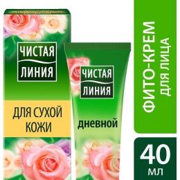 """Чистая Линия крем увлажняющий для сухой кожи """"Лепестки роз"""", дневной, 40 мл"""
