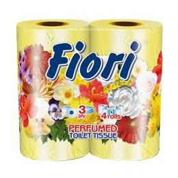 "Aster туалетная бумага ""Fiori"" 3 слойная ароматизированная, тон желтая, 4 шт"