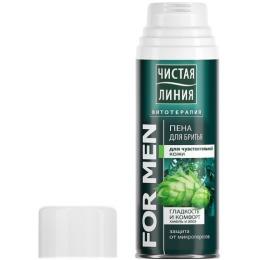 Чистая Линия пена для бритья для чувствительной кожи, 200 мл