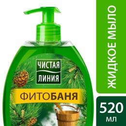 """Чистая Линия мыло жидкиое """"Фитобаня"""", 520 мл"""