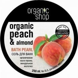 """Organic Shop соль для ванн """"Миндальный персик"""""""