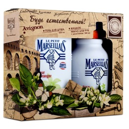 """Le Petit Marseillais набор женский гель для душа """"Цветок апельсинового дерева"""", 300 мл + жидкое мыло для рук """"Цветок апельсинового дерева"""", 300 мл"""