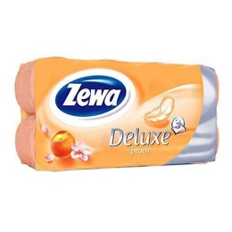 "Zewa бумага туалетная ""Делюкс 3-ех слойная с ароматом персика "", 16 шт"