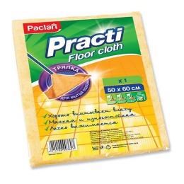 Paclan тряпка для пола Micro 50х60см желтая+ салфетка