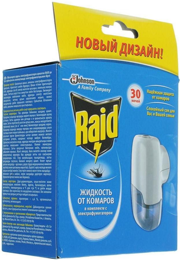 RAID Фумигатор от комаров Жидкость 30 ночей